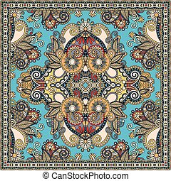 hals, eller, sjalett, scarf, mönster, fyrkant, silke, ...