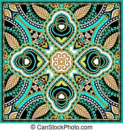hals, eller, sjalett, scarf, mönster, fyrkant, silke, design