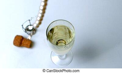 halsschmuck, fallen, glas, perle