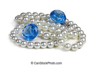 halsschmuck, von, perlen