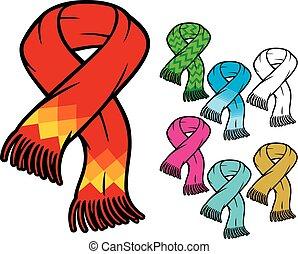 halstørklæde, samling
