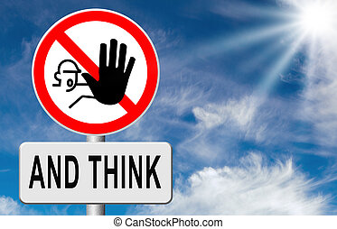 halt, denken, akt