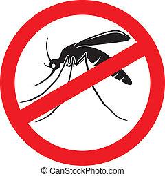 halt, moskito, zeichen