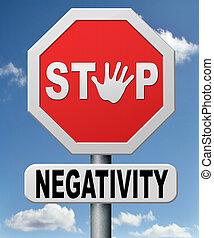 halt, negativität
