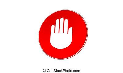 halte, arrêt, matte), -, signe, (loop