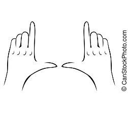 halten hand