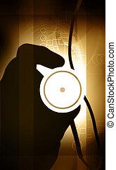 halten hand, stethoskop