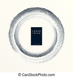 haltone frame design with text space