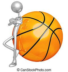 haltung, mager, basketball