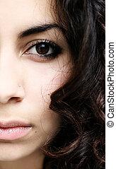 halve ansigt, abstrakt