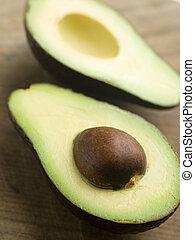 Halved avocado