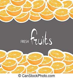 halves of freshly picked oranges