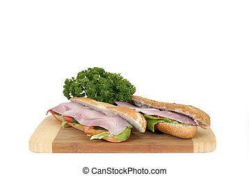 Ham and cheese baguette - Breakfast, fresh baked baguette ...