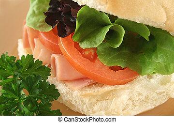 Ham And Salad Roll 2