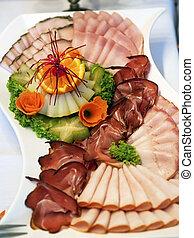 ham buffet closeup