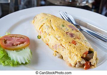 Ham egg rolls