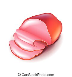 Ham isolated on white vector