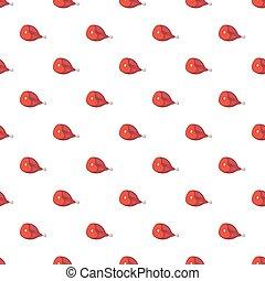 Ham pattern, cartoon style