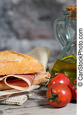 Ham Sandwich - Iberico ham sandwich with homemade bread...