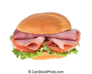 Ham Sandwich Isolated