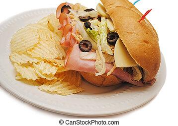 Ham Sandwich with Healthy Veggies
