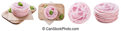 Ham Sausage (isolated on white)