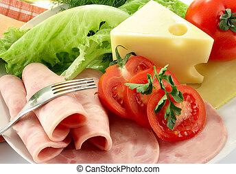 ham, tomaat, kaas