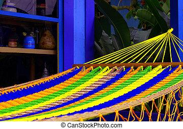 hamac, coloré, hawaï, storefront