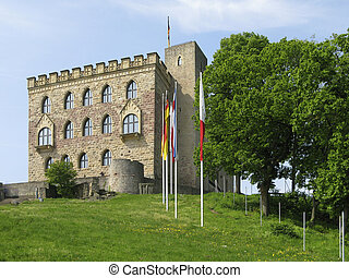 Hambach castle under blue sky