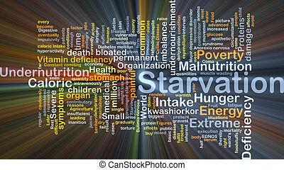 hambre, encendido, concepto, plano de fondo