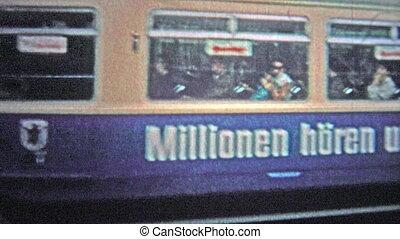 HAMBURG, GERMANY - 1966: Commuter train - Unique vintage 8mm...