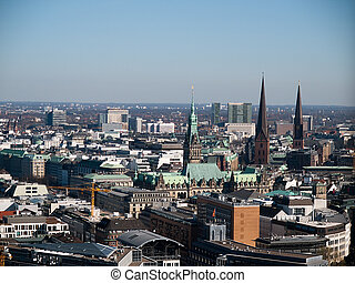 Hamburg Germany - View of Hamburg in Germany
