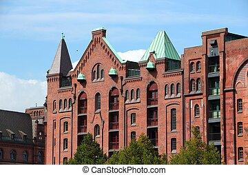 Hamburg industrial district - Hamburg, Germany - ...