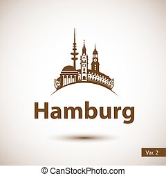 Hamburg Skyline abstract - Hamburg Germany. City skyline...
