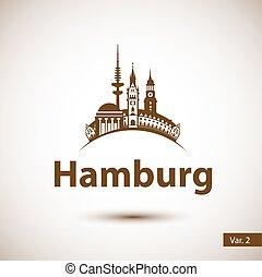 Hamburg Skyline abstract - Hamburg Germany. City skyline...