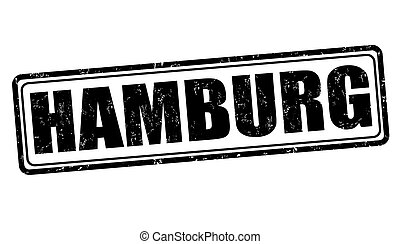 Hamburg stamp - Hamburg grunge rubber stamp on white, vector...