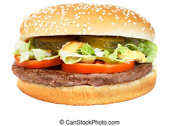 Hamburger - A fresh juicy hamburger