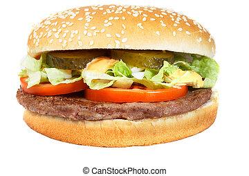 Hamburger - A fresh juicy hamburger