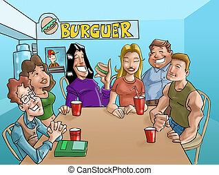 hamburger, adolescenti