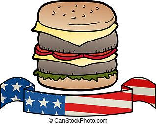 hamburger, amerykanka