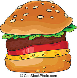 Hamburger - An illustration of a tasty hamburger