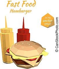 Hamburger and the sauce