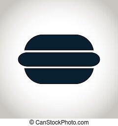 Hamburger black icon