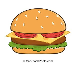 Hamburger Cartoon Illustration