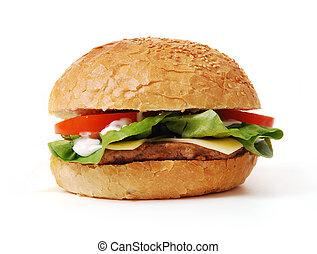 hamburger, com, legumes