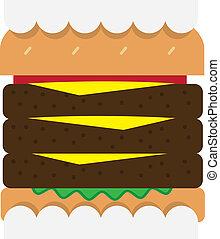 hamburger, dents