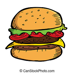 hamburger doodle