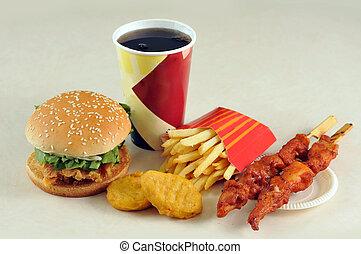 hamburger, fast-food