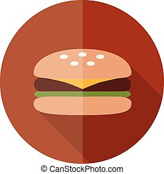 hamburger flat icon
