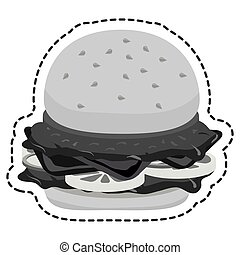 hamburger food flat icon